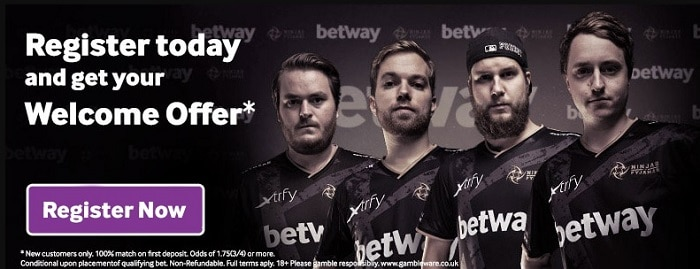 betway sign up now