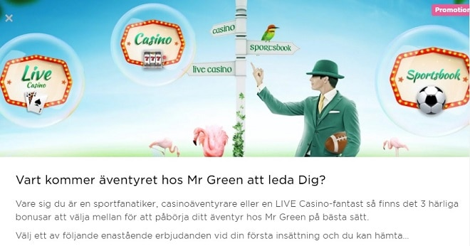 mr green bonus